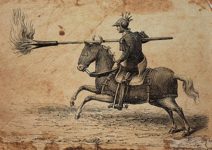 lanciafiamme medievale tromba da fuoco lancia da fuoco