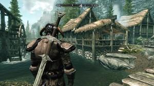 spada legata sulla schiena