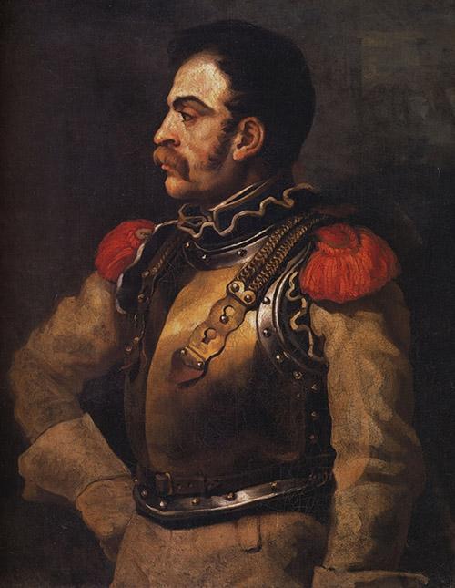 ritratto di carabiniere a cavallo [Gericault 1814]