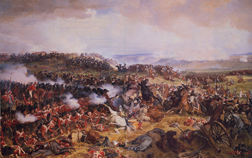 I corazzieri francesi caricano i quadrati inglesi [Philippoteaux, 1874]