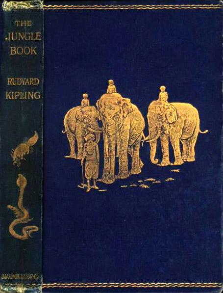 """Copertina della prima edizione di """"The Jungle Book"""""""