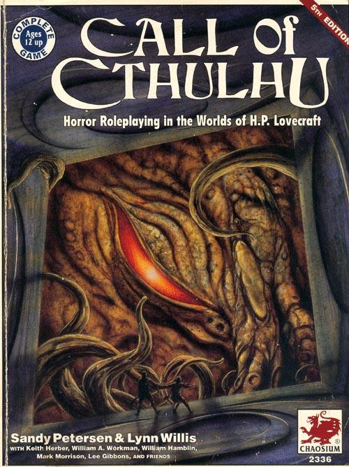 La quinta edizione di Call of Cthulu. La giocavo dieci anni fa e la gioco ancora :-)