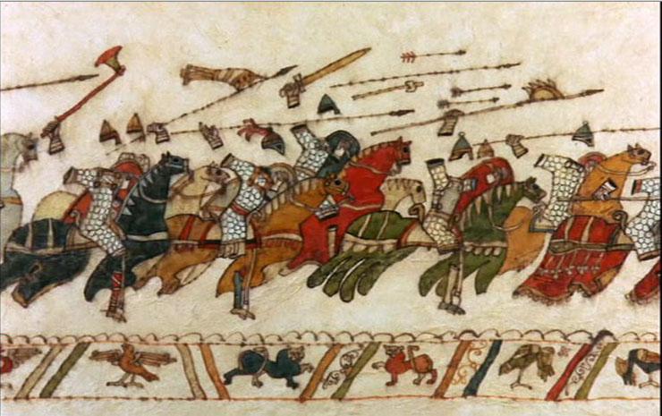 I titoli di testa del film, che imitano lo stile de L'arazzo di Bayeux. Geniale.