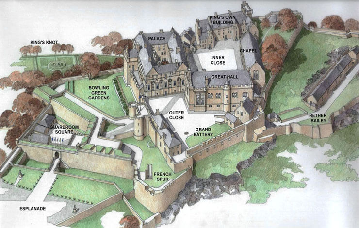 castello di stirling mappa