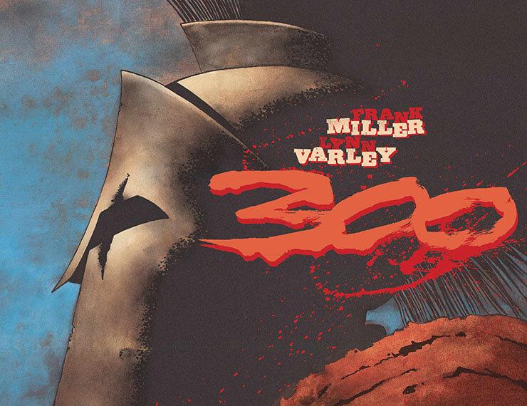 300 fumetto scene di battaglia