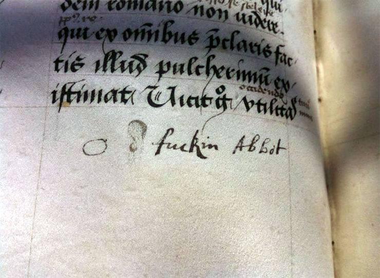parolacce antiche in un manoscritto inglese medievale