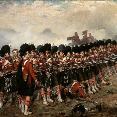 la sottile linea rossa degli highlanders nella battaglia di balaclava