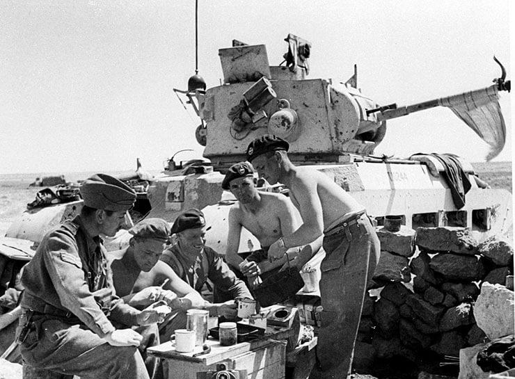 tè nel carro armato inglese