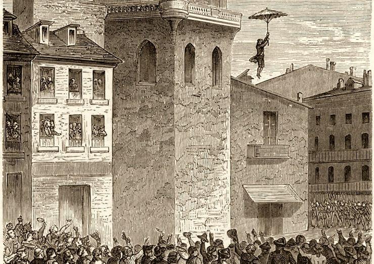il primo paracadute ombrello della storia