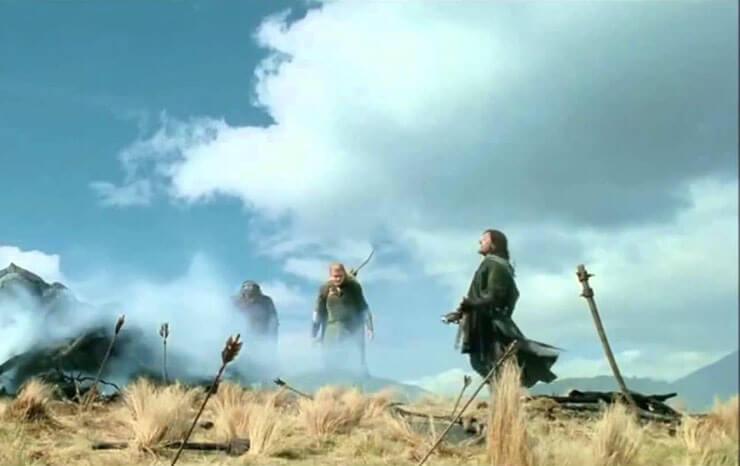Aragorn si rompe un piede ne Il Signore degli Anelli