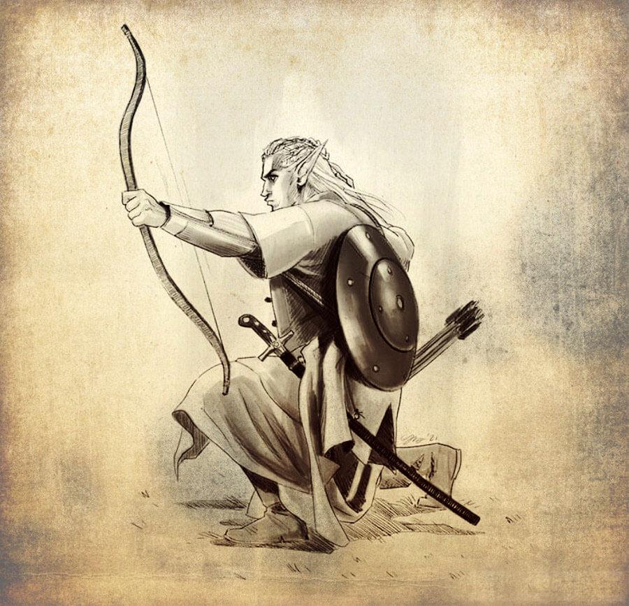guerriero elfo realistico