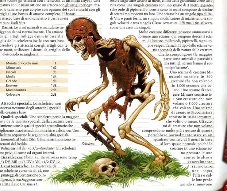 guerriero scheletro fantasy