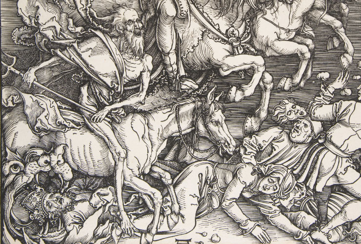 guerriero scheletro cavaliere dell'apocalisse